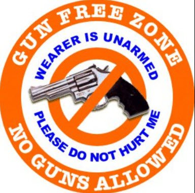Gun Free Zone Signs for Un-Armed Homes and Businesses to Post  (1/2)