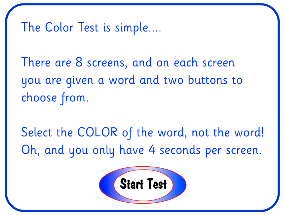 The Color Test -- Take a Coffee Break and See How Well You Do! (1/2)