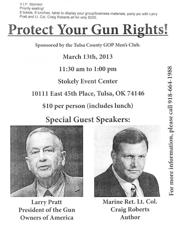 Larry Pratt flyer