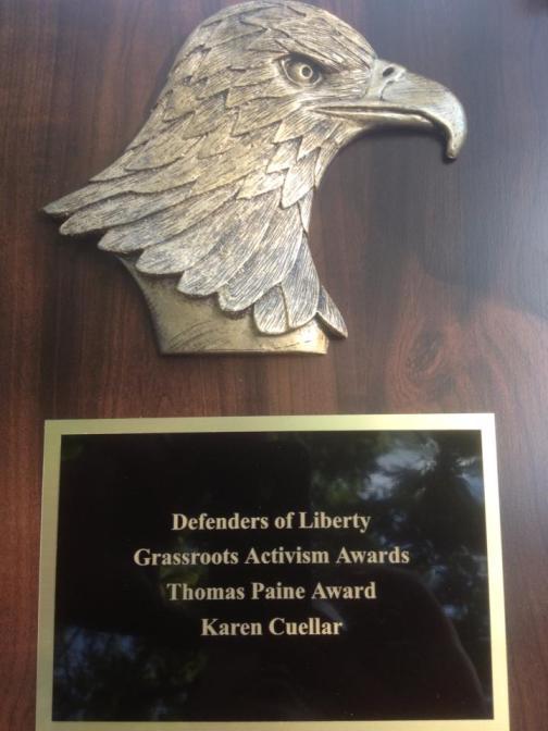 Thomas Paine Award - Karen Cuellar