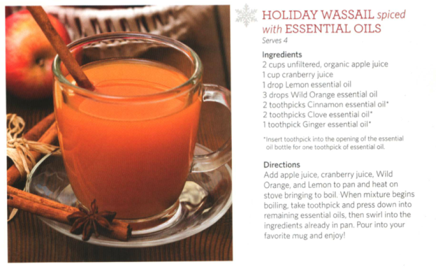 Holiday Wassail with doTERRA oils