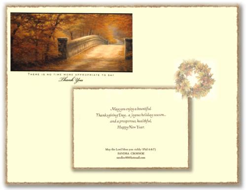 Thanksgiving Card 2013 Framed Draft