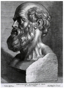 Hippocrates engraving by Peter Paul Rubens 1638