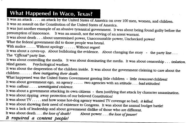 What Happened in Waco, Texas?