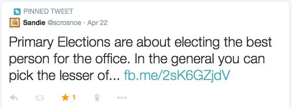 Primary Elections Tweet