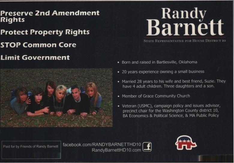Document-Randy Barnett - State Representative for HD10 p2 Tue Jun 24 2014