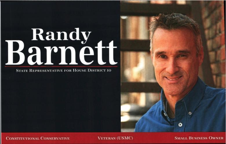 Document-Randy Barnett - State Representative for HD10 Tue Jun 24 2014 Randy Barnett