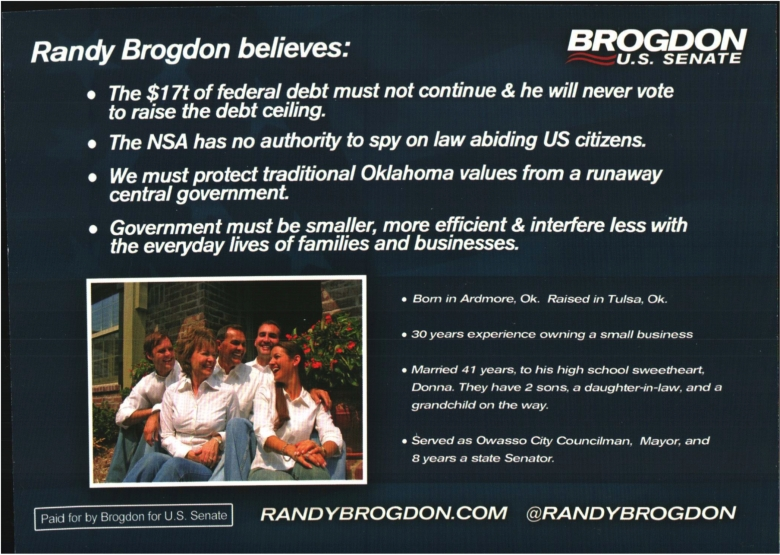 Document-Randy Brogdon for US Senate - Bio Mon Jun 09 2014 Randy Brogdon