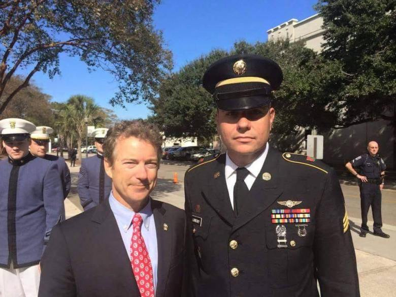 Rand Paul with Veteran