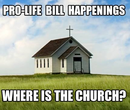 Where is the church on pro-life bill by Donohoo