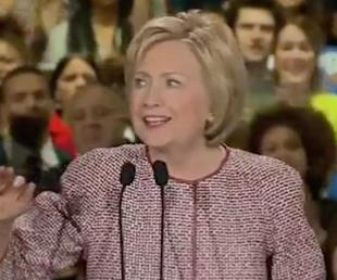 Hillary in Armani Jacket