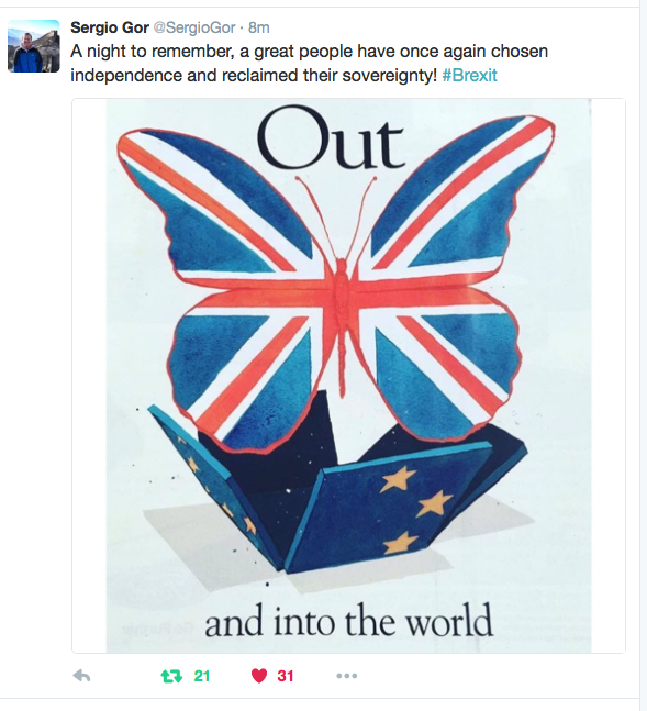 Twitter on Brexit