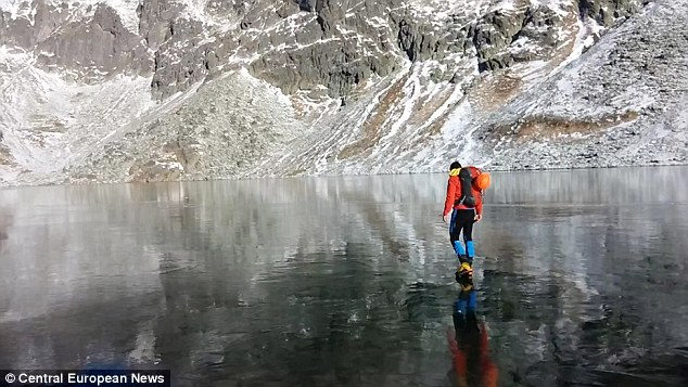 Walking on ice? Slovakian hikers - see article for more!