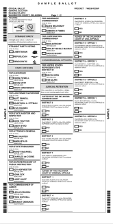 Sample Ballot For Washington County Ok General Election 2018 Vote Nov 6th Finding Gems And